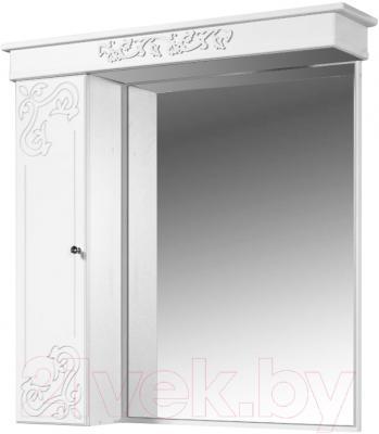 Шкаф с зеркалом для ванной Bliss Амелия-2 / 0455.8 (серебро, без подсветки)