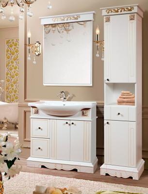 Шкаф-пенал для ванной Bliss Амелия-1 2Д1Я 0455.5 (патина золото) - в интерьере