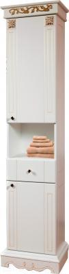 Шкаф-пенал для ванной Bliss Амелия-1 2Д1Я 0455.5 (патина золото)