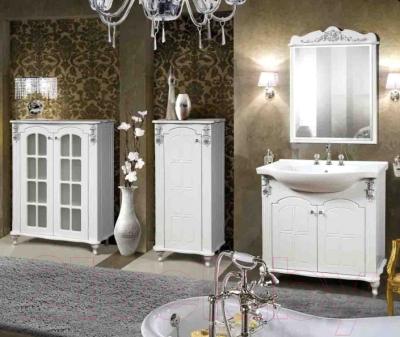 Шкаф-полупенал для ванной Bliss Версаль 1Д 0454.2 (белый)