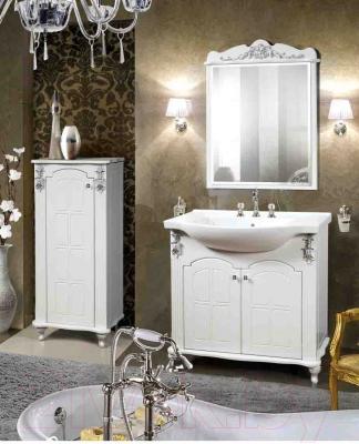 Зеркало для ванной Bliss Версаль 0454.4 (белый) - в интерьере