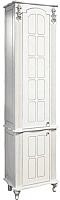 Шкаф-пенал для ванной Bliss Версаль 2Д 0454.6 (белый) -