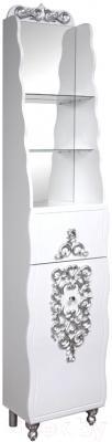 Шкаф-пенал для ванной Bliss Искушение 1Д1Я / 0459.10 (патина серебро)