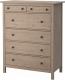 Комод Ikea Хемнэс 603.159.88 (серо-коричневый) -