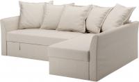 Чехол на угловой диван Ikea Хольмсунд 603.213.57 (бежевый) -