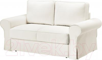 Чехол на диван - 2 местный Ikea Баккабру 603.233.99 (белый)