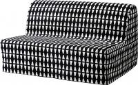 Чехол на диван - 2 местный Ikea Ликселе 603.245.82 (черный/белый) -