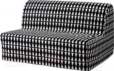 Чехол на диван - 2 местный Ikea Ликселе 603.245.82 (черный/белый)