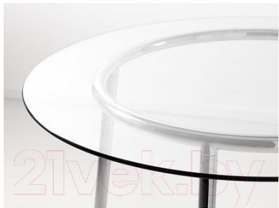 Обеденный стол Ikea Сальми 701.022.98 (стекло/хром)