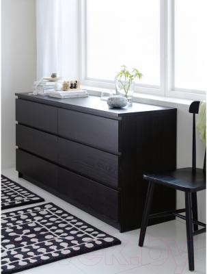 Комод Ikea Мальм 701.033.49 (черно-коричневый)