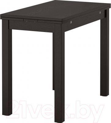 Обеденный стол Ikea Бьюрста 701.168.46 (коричнево-черный)