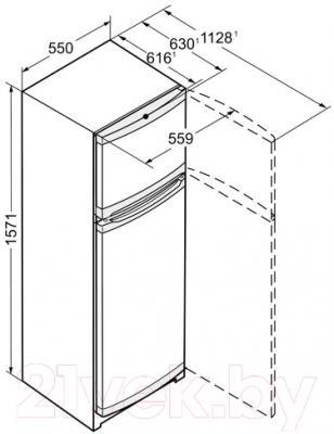 Холодильник с морозильником Liebherr CTPsl 2921-20