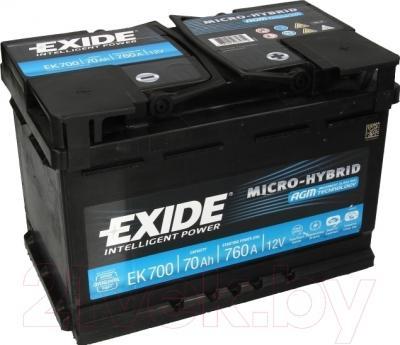 Автомобильный аккумулятор Exide Hybrid AGM EK700 (70 А/ч)