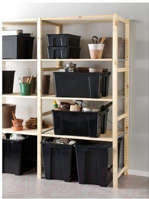 Контейнер для хранения Ikea Самла 702.063.14 (черный)