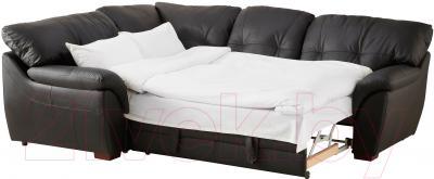 Угловой диван-кровать Ikea Бьербу 702.226.96 (черный) - в разложенном виде