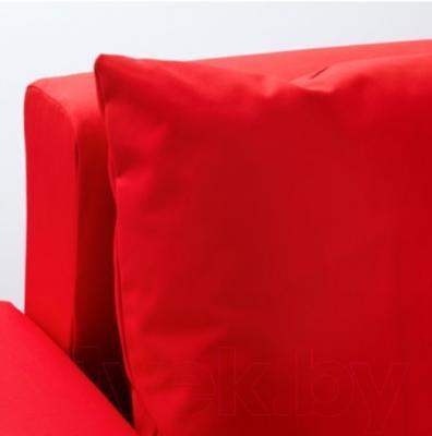 Угловой диван-кровать Ikea Лугнвик 702.237.33 (красный)