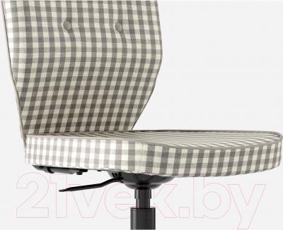 Кресло офисное Ikea Лиллхойден 702.332.42 (серый) - вид спереди