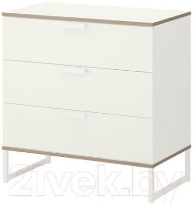 Комод Ikea Трисил 702.360.28 (белый/светло-серый)