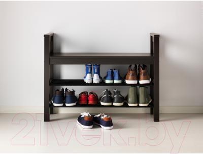 Скамья Ikea Хемнэс 702.458.72 (с полкой для обуви) - в интерьере