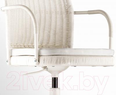 Кресло офисное Ikea Грегор 702.604.62 (белый/светло-бежевый) - вид спереди