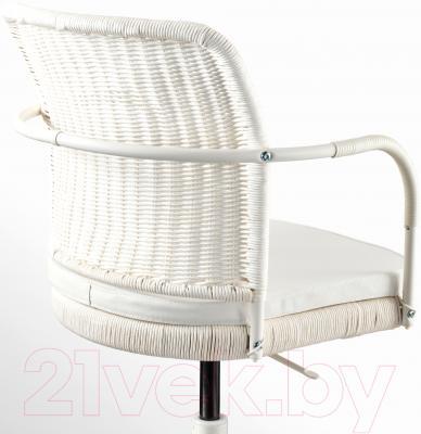 Кресло офисное Ikea Грегор 702.604.62 (белый/светло-бежевый) - вид сзади