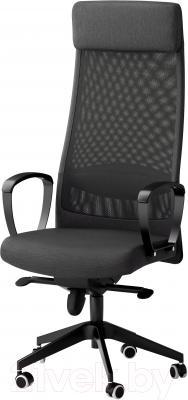 Кресло офисное Ikea Маркус 702.611.50 (темно-серый)