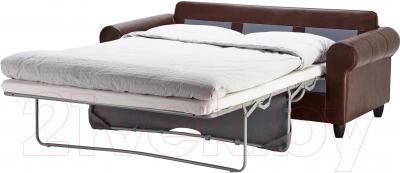 Диван-кровать Ikea Фиксхульт 702.762.98 (темно-коричневый, под мрамор) - в разложенном виде