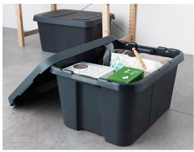 Контейнер для хранения Ikea Клэмтаре 702.923.64 (темно-серый)