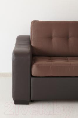Угловой диван-кровать Ikea Лиарум 703.003.35 (коричневый/темно-коричневый)