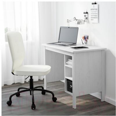 Письменный стол Ikea Брусали 703.023.01 (белый)