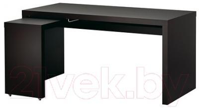 Письменный стол Ikea Мальм 602.141.83 (черно-коричневый)