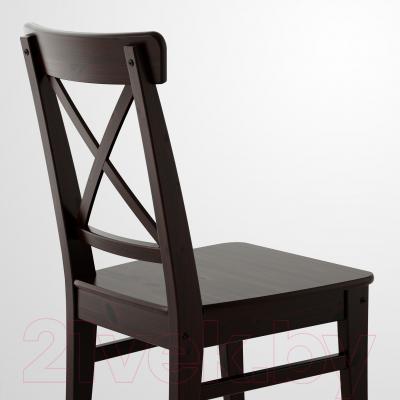 Стул Ikea Ингольф 602.178.22 (коричнево-черный)