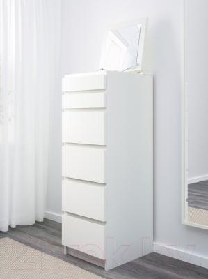 Комод Ikea Мальм 602.180.15 (белый)