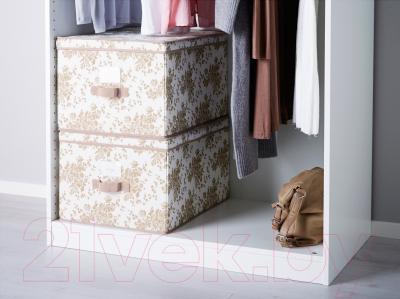 Ящик для хранения Ikea Гарнитур 602.196.04 (бежевый/белый цветок)