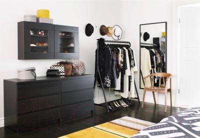 Комод Ikea Мальм 801.033.44 (черный/коричневый)
