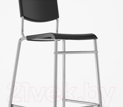 Стул Ikea Стиг 801.552.05 (черный/серебристый)