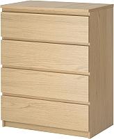 Комод Ikea Мальм 801.786.07 (дубовый шпон, беленый) -