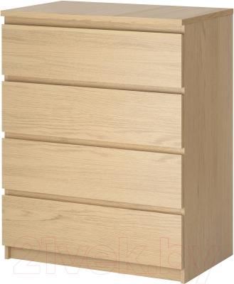 Комод Ikea Мальм 801.786.07 (дубовый шпон, беленый)