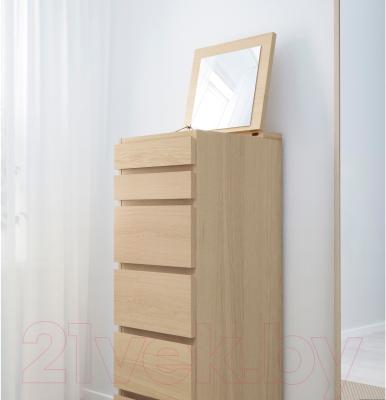 Комод Ikea Мальм 801.786.12 (дубовый шпон, беленый)