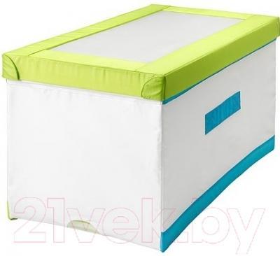 Ящик для хранения Ikea Кусинер 801.912.89 (бело-зеленый/бирюзовый)