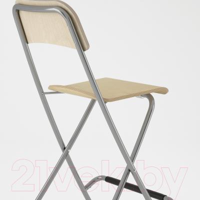 Стул Ikea Франклин 801.992.14 (березовый шпон/серебристый)