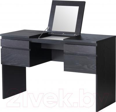 Туалетный столик с зеркалом Ikea Рансби 801.994.45 (черно-коричневый)