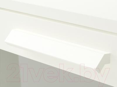 Комод Ikea Бримнэс 802.180.24 (белый, матовое стекло)