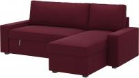 Чехол на угловой диван Ikea Виласунд 602.430.86 (красно-сиреневый) -