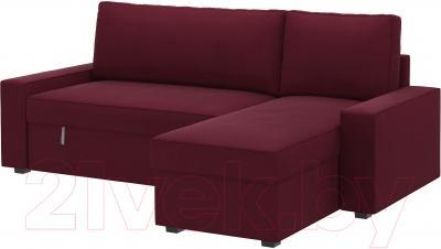 Чехол на угловой диван Ikea Виласунд 602.430.86 (красно-сиреневый)