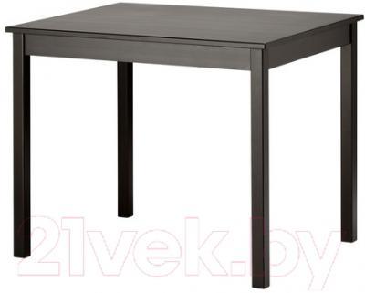 Обеденный стол Ikea Олмстад 802.403.84 (коричнево-черный) - Инструкция по сборке