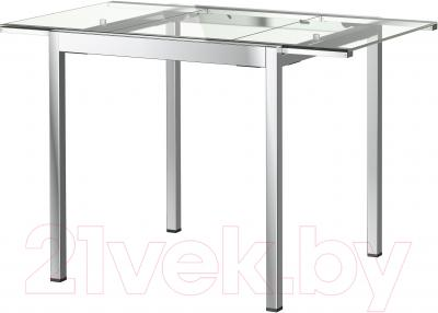 Обеденный стол Ikea Гливарп 802.423.02 (прозрачный, хромированный)