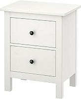 Прикроватная тумба Ikea Хемнэс 802.426.27 (белая морилка) -