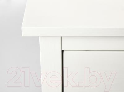 Прикроватная тумба Ikea Хемнэс 802.426.27 (белая морилка)