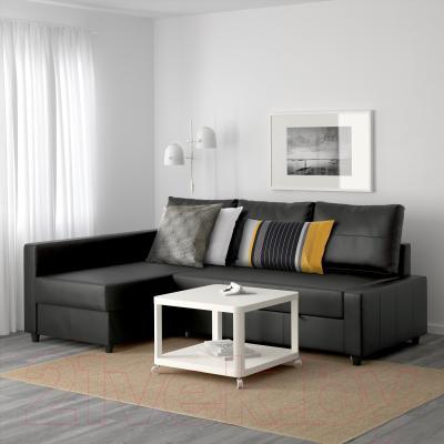 Угловой диван-кровать Ikea Фрихетэн 802.623.66 (Бумстад черный)